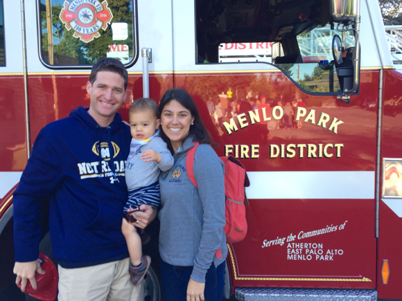 family-in-front-of-fire-truck