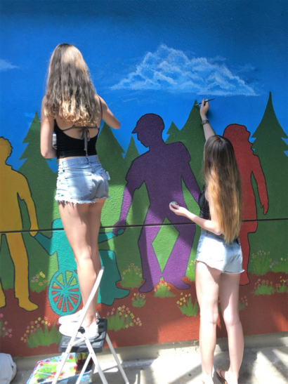 "New mural at Menlo-Atherton High School celebrates ""strength in diversity"""