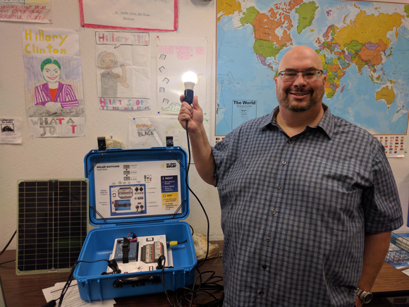 "Post image for Jordan Stone is taking ""solar suitcases"" to Kenya as part of a PG&E program for students and teachers"