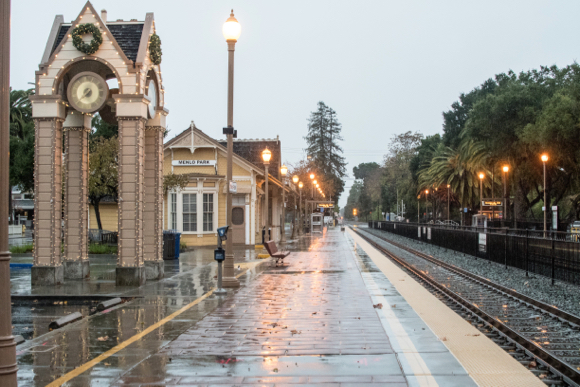 Post image for It's a soggy Saturday in Menlo Park