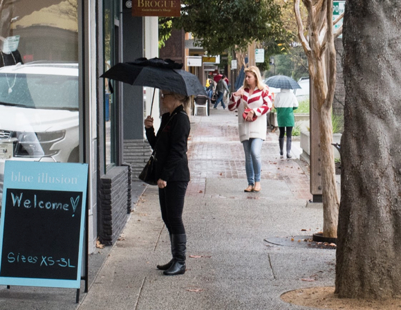 Post image for It's umbrellas up again in Menlo Park