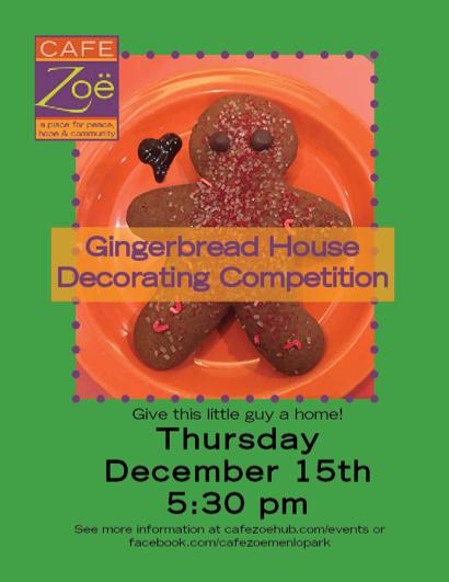 Cafe Zoë hosts Gingerbread House Decorating Competition on Dec. 15