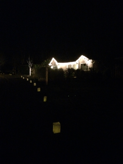 Spotted: Luminarias are lighting the streets of Menlo Park on Christmas Eve