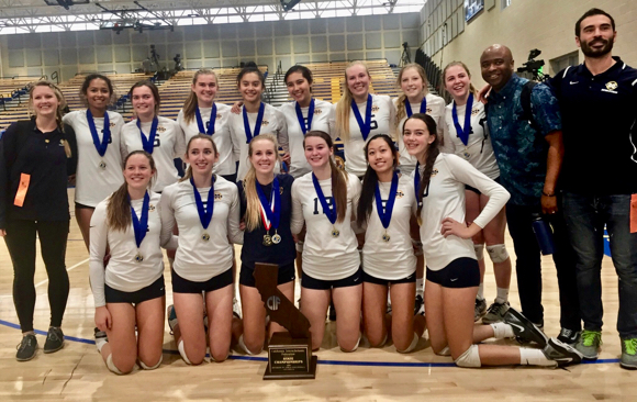 Post image for Menlo Knights capture first state volleyball championship in school history