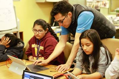 Spotted: Boys and Girls Club members learning to code at Microsoft event