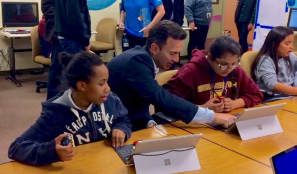 Post image for Spotted: Boys and Girls Club members learning to code at Microsoft event