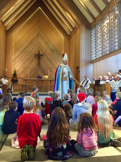 Spotted: Yes, that's St. Nicholas at Trinity Church in Menlo Park