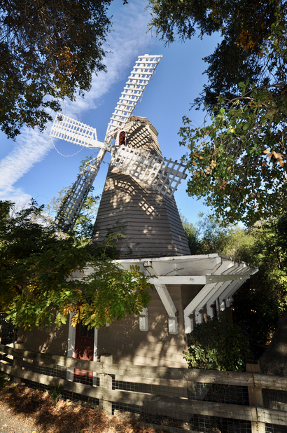 A replica windmill and a school have a combined history in Portola Valley
