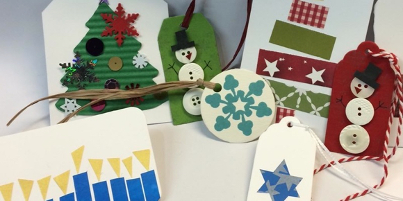 Kids invited to make homemade gift tags at Menlo Park Library on December 17
