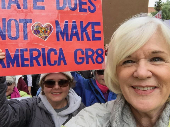 Carol Mince at SF women's march - 1