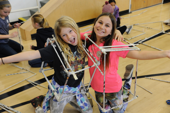 Encinal School students get involved with engineering at a Build It Festival