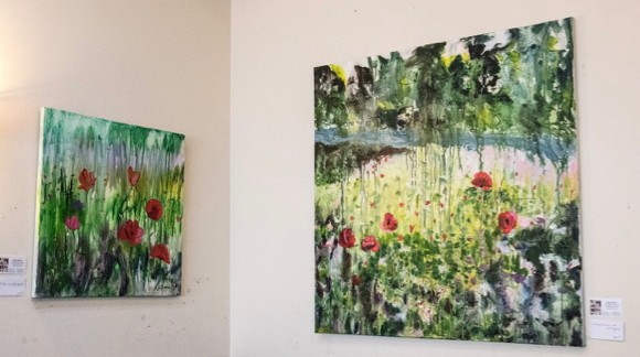 Post image for Spotted: Paintings by Joyce Savre at Plantation Cafe