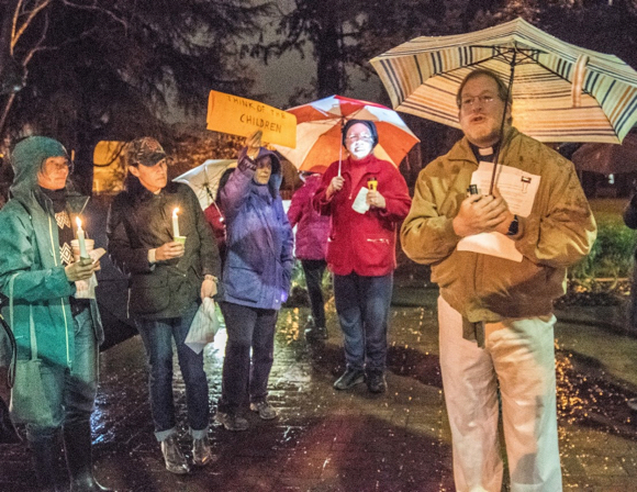 "Post image for Candlelight vigil at Fremont Park promotes ""compassion for all"" on inauguration eve"