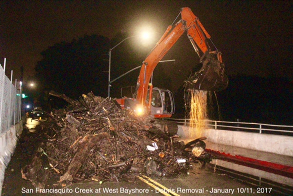 Menlo Fire_creek debris - 1