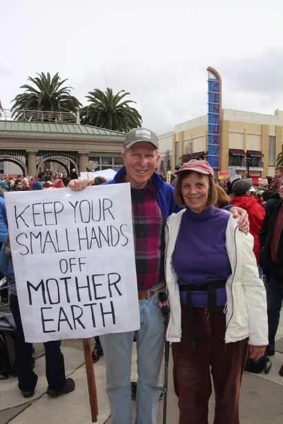Post image for Spotted: Menlo Park couple at rally supporting Mother Earth