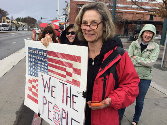 We the People sign at Trump protest - 1