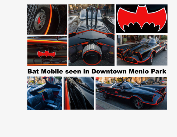 Spotted: Batmobile in downtown Menlo Park
