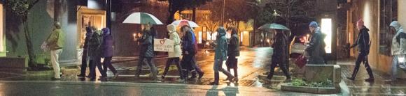 protestors walking streets of MP - 1