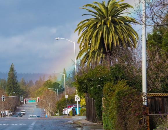 rainbow on the Alameda - 1