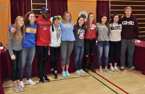 M-A student athletes participate in National Letter of Intent Signing Day