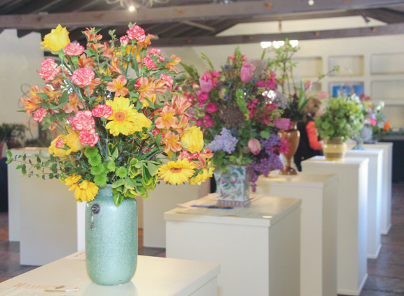 The Allied Arts Guild is ablaze in blooms today, thanks to the Garden Club of America flower show