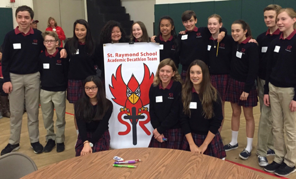 Post image for St. Raymond School places first in Academic Decathlon