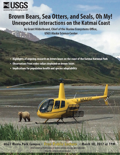 """""""Brown Bears, Sea Otters, and Seals, Oh My!"""" is next USGS lecture"""