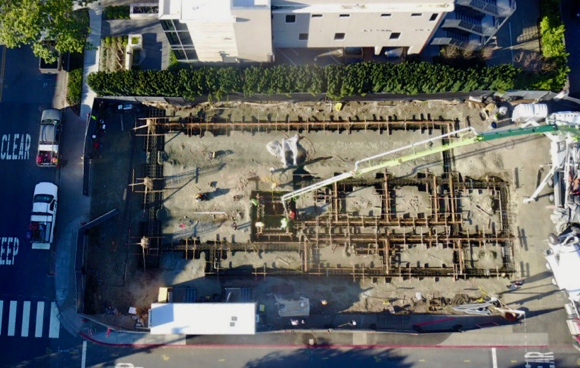 Post image for Drone provides aerial view of new downtown Fire Station 6 construction