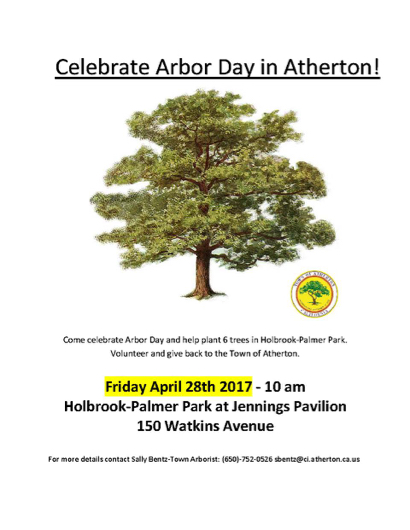 Post image for Atherton celebrates Arbor Day on April 28