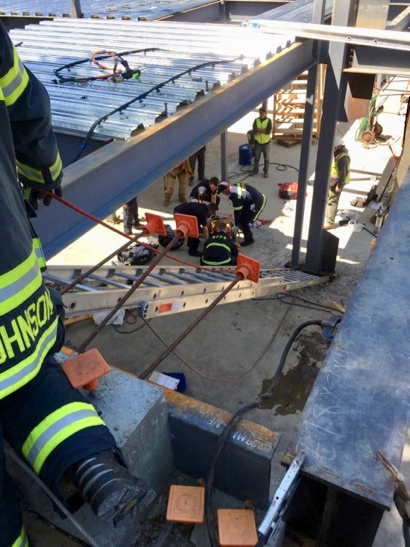 Post image for Menlo Fire rescues man from basement under construction in Atherton