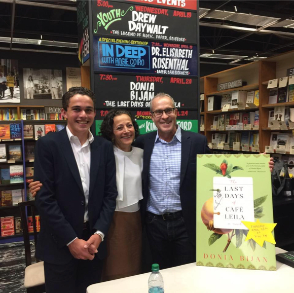Spotted: Author Donia Bijan at Kepler's celebrating book launch with her family