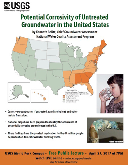 USGS lecture on April 27 looks at untreated groundwater