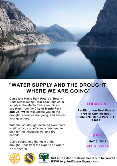 Rotary Connects presents talk on water supply and the drought on May 3