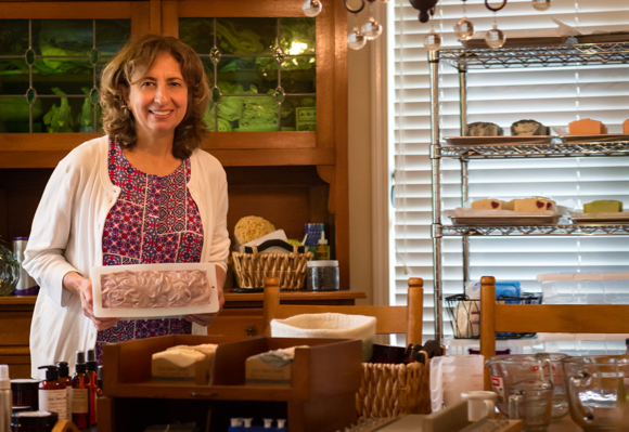 Cathy Bitler brings her background in science to making handcrafted soaps