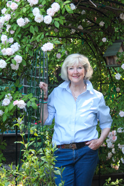 Kathy Brenzel finds her Menlo Park garden ablaze with roses this spring