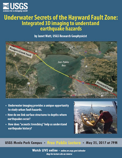 Post image for USGS evening public lecture on May 25 focuses on Hayward Fault Zone