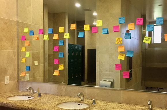 Post image for Spotted: Notes of encouragement for girls at Burgess