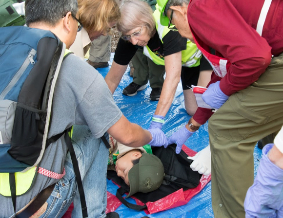 Post image for Fremont Park is transformed into triage center today for disaster response training