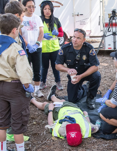 Fremont Park is transformed into triage center today for disaster response training