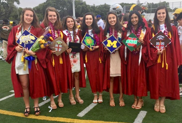 Post image for Spotted: Happy M-A girl grads at commencement yesterday