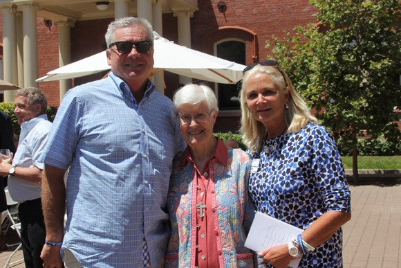 """Sister Nancy Morris celebrates her 90th birthday surrounded by her multiple-generation """"fan club"""""""