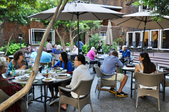 Patio at Menlo Grill Bistro & Bar is an inviting place for a summer meal