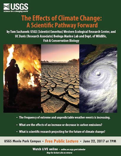 Post image for The Effects of Climate Change is topic of USGS evening lecture on June 22