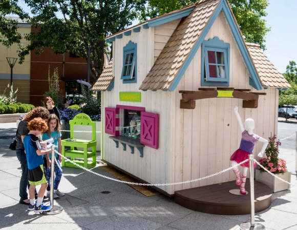 "Playhouses on display at Stanford Shopping Center make ""dreams happen"" for local non-profit Rebuilding Together Peninsula"