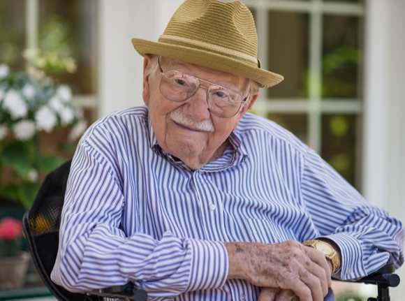 Arthur Flegel approaches his 100th birthday