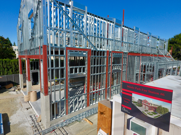 Post image for Fire Station #6 in downtown Menlo Park is taking shape