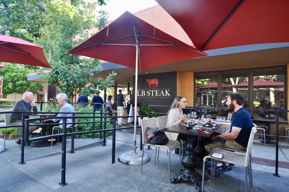 Post image for LB Steak outdoor patio seating elevates good Happy Hour to great