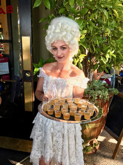 Spotted: Marie Antoinette look-alike at Left Bank in Menlo Park – plus a French view
