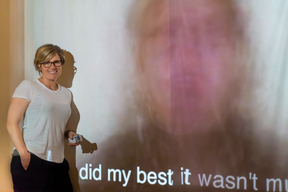 Multi-media artist Mel Day previews Wall of Song, her video art installation project
