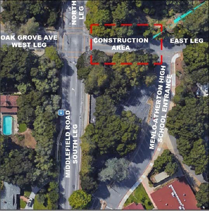 Post image for What to know about the construction on Middlefield Avenue/Oak Grove Avenue this week
